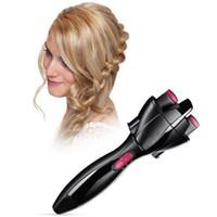 поворотный держатель оптовых-Новые Автоматические Инструменты Для Укладки Волос Brader Smart Quick Easy DIY Электрические Две пряди Twist Braid Maker Hair Braider Machine