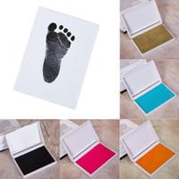 fotos de tinta al por mayor-Artículos para bebés Regalo de recuerdo Pata de bebé Estera de impresión Estampado del pie Marco de fotos Toque Tinta almohadilla Venta caliente
