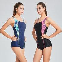 einteiliger badeanzug sport großhandel-Professionelle Badebekleidung Badeanzug Damen Schnelltrocknend Rückenfrei Monokini Badeanzug Sport Bodysuit Strand Badeanzug Schwimmen