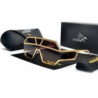 Wholesale large sunglasses for sale - Group buy Fashion Gothic Sunglasses Women Brand Designer Luxury Hippie Glasses Large Frame Full Black Unisex Oversized Sunglasses NX