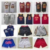 Wholesale jersey cavaliers resale online - Mens Cleveland Cavaliers Throwback jerseys LeBron James Basketball Shorts Basketball Jerseys yellow red white blue grey