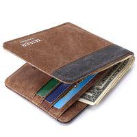 bolsas de moeda denim venda por atacado-Carteiras de Lona dos homens Coin Purse Titular Cartões de Crédito Bolso Denim Mudança Bolsas Masculinas Carteiras Bolsos Casuais Curto Carteira