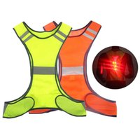 Wholesale black cycling vest resale online - Outdoor Cycling Reflective Vest Safety Warning Night Running Jogging Visibility Safety Fluorescence Vests with Back LED