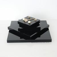 ingrosso visualizzazione di gioielli acrilici-Espositore piatto piatto display orecchino anello orecchino anello display collane personalizzate personalizzati in metallo acrilico