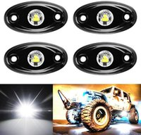 caminhão de jipe venda por atacado-Kit LED 6Pods Rock Light para Jeep ATV Offroad SUV Truck Boat Trail Underbody Brilho Rig underglow LED das luzes de néon