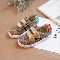 kızlar için süngerler toptan satış-2019 Yeni çocuk ayakkabıları Moda kız kanvas ayakkabılar öğrenci Düz çocuk boys loafer'lar sneakers toddler bebek spor için