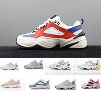 самые продаваемые дизайнерские туфли оптовых-продать Monarch M2K Tekno мужчины женщины спортивные кроссовки высокого качества белый розовый мужской дизайнер Zapatillas спортивные кроссовки кроссовки 36-45