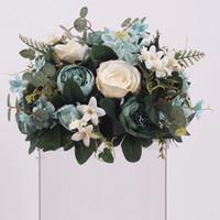 fundo da parede da flor venda por atacado-New DIY Wedding peças centrais da tabela Artificial Bola da flor do casamento de Fundo Decor Estrada Chumbo Wall Hotel Loja Partido de seda Flores Bouquet