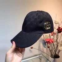 ingrosso annata di donne del cappello nero-Nuove donne berretto da baseball dei cappelli delle donne degli uomini per gli uomini Trucker Marca Snapback Caps maschio del ricamo dell'annata Casquette Bone Black Hat papà Caps GC