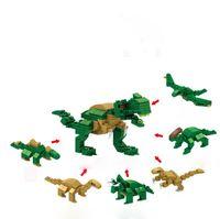 leão brinquedo de natal venda por atacado-Cápsula do bloco de construção 6 em 1 animais águia leão dinossauro criança educação diy blocos de construção de brinquedo de presente de natal