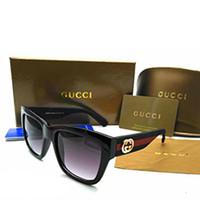 güneş gözlüklerinin çoğu toptan satış-10 ADET Tasarımcı Marka Güneş Erkekler Kadınlar Yaz Tarzı Kedi göz Güneş gözlükleri En Popüler UV400 Moda Çizgili Kare Sunglass 0034