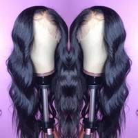 bakire saç tam dantel peruklar toptan satış-Ham Hint Bakire İnsan Saç Dantel Ön Peruk Vücut Dalga 13x6 Dantel Frontal Peruk Hint Vücut Dalga Tam Dantel İnsan Saç Peruk