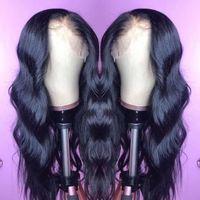 índigo virgem cheio atado da peruca venda por atacado-Raw indiano virgem do cabelo humano peruca dianteira do laço da onda do corpo 13x6 Lace frontal Perucas Corpo indiano onda completa Lace perucas de cabelo humano