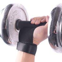 guantes de fitness mano al por mayor-1 par de agarre de mano de cuero sintético Gimnasia Guardia Protectores de palma Guante Fitness Guante de levantamiento de pesas Guantes de gimnasio Envoltura de muñeca de mano