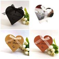 decoración para cajas de chocolate al por mayor-Chocolate Love Candy Box Laser de la boda Ahueca hacia fuera Cofre Eid Mubarak Ramadán Estuche Cajas de regalo Decoración Bownot Perla Papel 0 45dd C1
