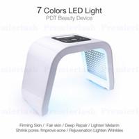 pdt-lampen großhandel-Photon LED Lichttherapie Gesichts Maschine Gesichtsmaske Lampe Photodynamische Akne Remover Behandlung 7 Farben PDT Beauty Equipment Spa Instrument