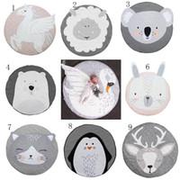 Wholesale mobile babies resale online - INS Baby Creeping Mats Fox deer Unicorn Rabbit lion swan Play Game Mat Decorative Crawling Blanket Kids Floor Carpet styles MMA1274