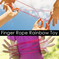 Wholesale string toys children resale online - 12pcs Colorful Finger Rope Twist String Game Toy Rainbow Rope Children Finger Thread Rope Team Game Toys For Children Gift