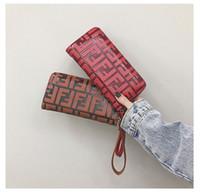 klasik deri bayanlar sikke çantası toptan satış-FF Tasarımcı Cüzdan PU Deri Kadınlar Uzun Çantalar 2019 Moda Vintage Debriyaj Çanta Sikke çanta Bayanlar Tek Fermuar Bileklik Cüzdan B72301 Fends