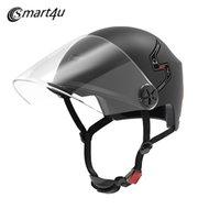 ingrosso attrezzature per biciclette-Xiaomi Smart4u E10 Smart Bike Casco moto Bluetooth elettrico auto bicicletta automatica casco attrezzature da ciclismo