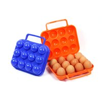 Wholesale car travel tray resale online - New Style Outdoor Portable Eggs Storage Case Grid Egg PP Tray Camping Picnic BBQ Eggs Plastic Stock Box Ultra Light Camp Kitchen Tools