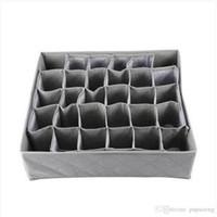 rejilla de bambú al por mayor-2018 envío gratis 30 Grid Slot Bamboo Charcoal Ties Calcetines Closet Closet Organizador Caja de almacenamiento