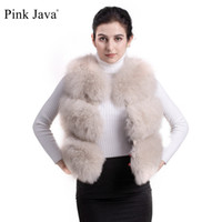 настоящие меховые шорты оптовых-PINK JAVA QC9437 high end fashion natural  fur vest garment FREE SHIPPIN real  short vest gilet high quality winter women