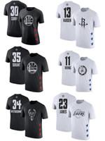 números de camiseta al por mayor-Camiseta Curry Black James Letters Covey Less Owen George Lillard Wade camiseta con nombre y número de estrellas 2019