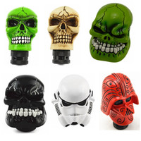 Wholesale skull knobs for sale - Group buy Gear Shift Knob Universal Car Manual Gear stick Shift Shifter Lever Knob Wicked Carved Skull refit Decoration Stick