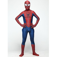 Wholesale Halloween Costumes Spider Man Cosplay for Adults Disfraces De Halloween Costume Classic Tony Remy Piece Leotard Characters Playing Clothes
