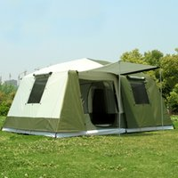 ingrosso campi di tenda di alta qualità-2017 nuovo arrivo Grande tenda da campeggio all'aperto 10-12 persone di alta qualità lusso famiglia / festa 2room 1hall tenda da campeggio all'aperto