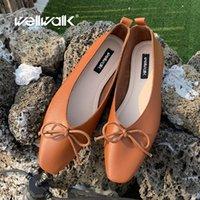 zapatos plegables mujeres al por mayor-Plegable bailarinas mujeres planas de los zapatos de cuero genuino del resbalón de la PU Mocasines Mujer en holgazanes nudo de la mariposa verano de las señoras del zapato de la mujer