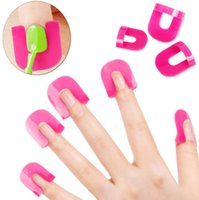 Wholesale nail shields wholesale for sale - Spill Resistant Manicure Finger Cover Popular Creative set Nail Polish Molds Shield Special Nail Art Tool Set