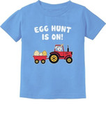 Wholesale free easter eggs for sale - Group buy Easter Egg Hunt Gift for Tractor Loving Kids Toddler Infant Kids T Shirt EasterFunny Unisex Casual top