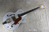 Wholesale falcon guitar body resale online - Factory Custom White Falcon Semi Hollow Body Jazz Korean Tuners Electric Guitar With Bigsby Tremolo