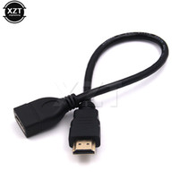 Wholesale cable wires for tv resale online - new HDMI Male to HDMI Female Converter Adapter Extension Cable Cord Wire Line Connector P for HD TV LCD hot