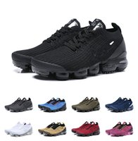 Wholesale best athletic running shoes for sale - Group buy 2019 New style Best Air Cushion Chaussures Laceless Running Shoes Triple Black Designer Mens Women Sneakers Fly Athletic knit Size