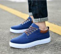 erkekler rahat ayakkabılar korece toptan satış-Üst Kalite Kore versiyonu Marka Ucuz Günlük Ayakkabılar üçlü beyaz mavi kırmızı Sneaker kombinasyon ayakkabı Womens Moda Günlük Ayakkabılar 39-44