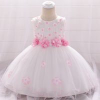Wholesale months dresses for wedding resale online - 2019 Newborn Christening Dress For Baby Girl Clothes Dresses Party And Wedding Princess Dresses Girl st Birthday Month Y19061001