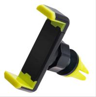 Wholesale revolving lights resale online - Hot selling car mobile phone bracket Car degree revolving mobile phone outlet latch type lazy bracket