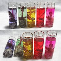 Wholesale celebration glass resale online - Sea Shells Eco friendly Transparent Glass Candle Colorful Jelly Crystal Wax Decoration Birthday Celebration Wedding Candle BH2504 TQQ