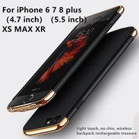 cargador inalámbrico iphone para móvil al por mayor-Funda de batería externa Cargador de energía Cubierta de carga para iPhone8 / 7/6 / 6S / 6 / 6S / 7 / 8plus / iPhone X / XS / XS MAX / XR Mobile Shell Mochila de carga