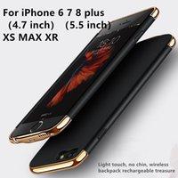 couvercle du boîtier du chargeur de batterie achat en gros de-Housse de recharge pour chargeur de batterie externe pour iPhone8 / 7/6 / 6S / 6 / 6S / 7 / 8plus / iPhone X / XS / XS / XS MAX / XR - Sac à dos de chargement pour coque mobile