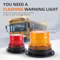 kırmızı led yanıp sönen güvenlik ışıkları toptan satış-LED Araç Kamyon Manyetik Uyarı Işığı 12 V Emniyet Trafik Işığı Flaş Lambası Sarı Kırmızı