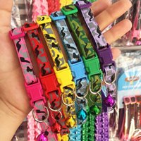 Wholesale camo dog collars online - Delicate Safety Casual Nylon Dog Collar Neck Strap Fashion Adjustable Camo Bell Pet Dog Collar Hot Sale