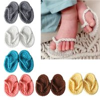Wholesale hand crocheted baby shoes for sale - Group buy New Born Photography Props Hand Crochet Baby Slippers Baby Photo Props Shoes Newborn Fotografia Photography Accessories
