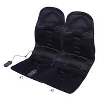 ingrosso sedili riscaldanti-Cuscino per massaggio elettrico Poltrona per massaggio elettrico Home Office Full Body Rilassamento del collo lombare Cuscino per il sedere Cuscino per il calore del materasso Shiatsu