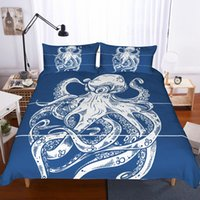 Wholesale queen size comforter sets green for sale - 3d octopus printing bedding set queen comforter sets Duvet Cover set king size Bed Set Drop Shipping