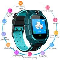 ingrosso guardare gsm sos-Smart Watch anti-perso GPS Tracker SOS Chiama GSM SIM Regali di Natale per bambini Bambini USA