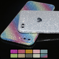 наклейка для футляра для телефона оптовых-Блеск 360 всего тела стикер телефона кожного покрова чехол для iPhone X 8 7 6 S 6 плюс 5 5S SE чехол блестящий мода красочные чехлы для телефона